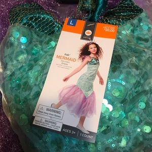 Other - Girls NWT  mermaid costume ~ size large